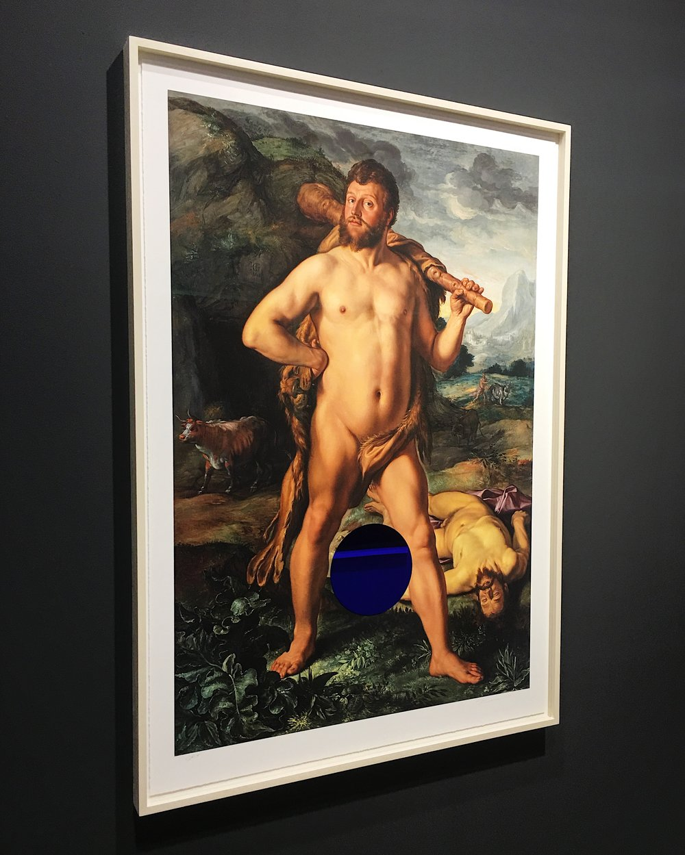 Jeff Koons Gazing Ball (Goltzius Hercules and Cacus).JPG