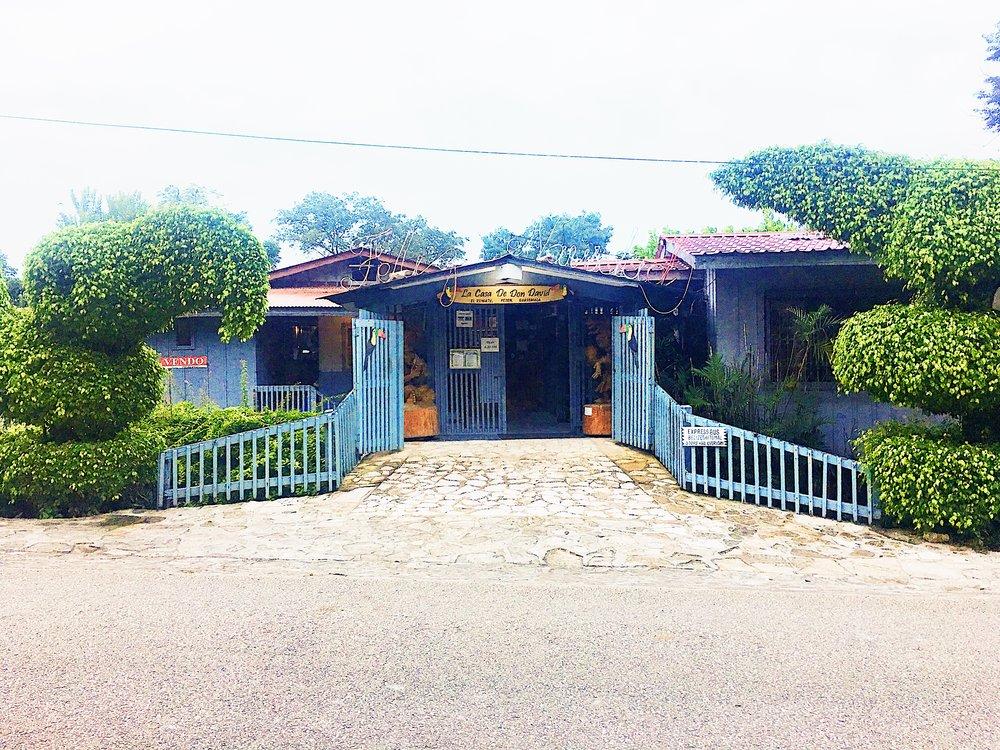 The entrance to La Casa de Don David in the village of El Remate, Guatemala.
