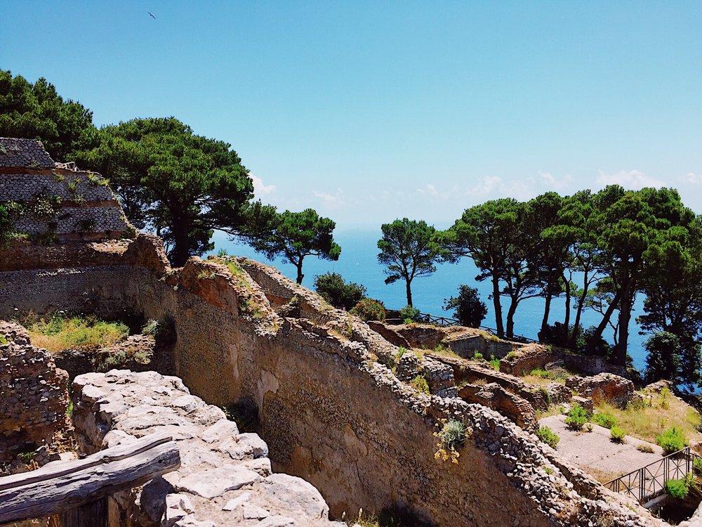 The ruins of Villa Jovis.