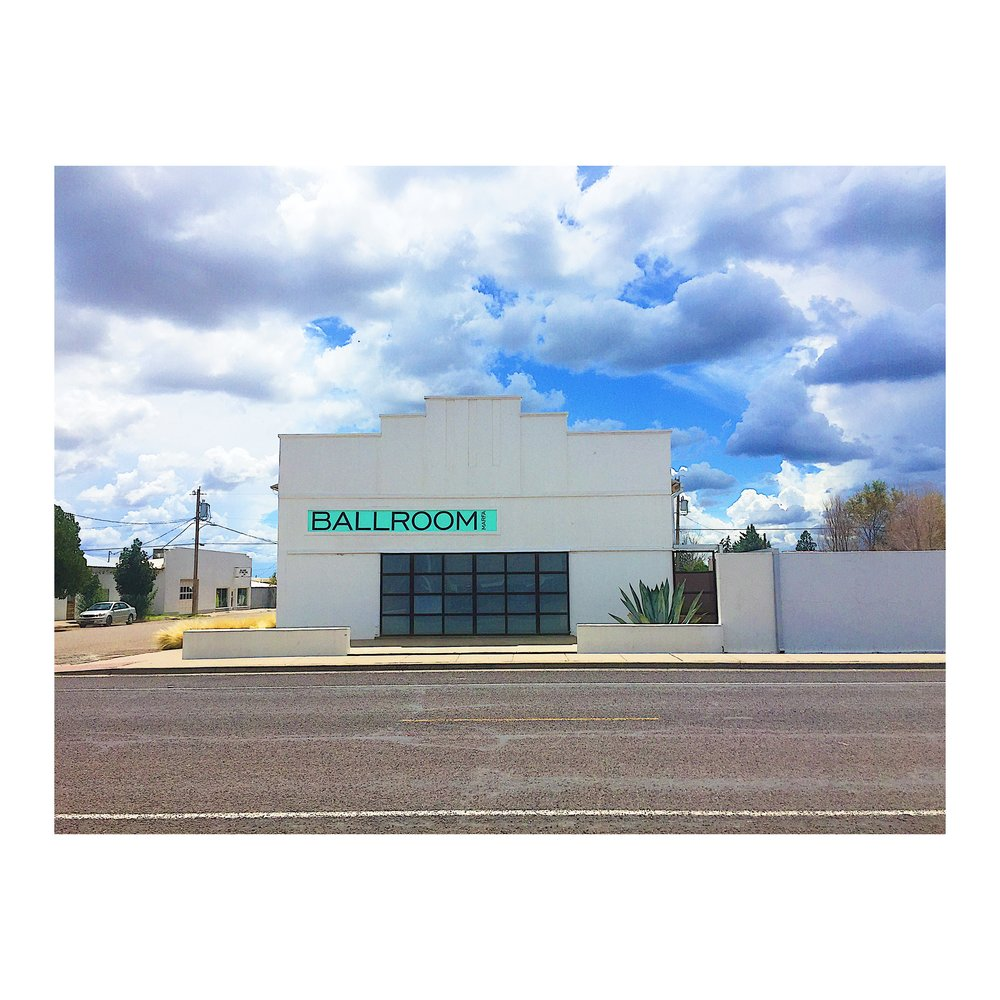 Ballroom Marfa, an art exhibition space. Photo by Jodee Molina.