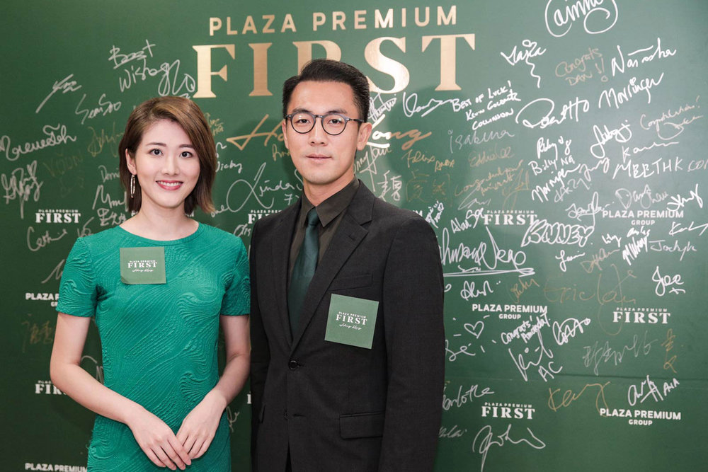 Artists Gloria Tang and Shaun Tam attending the Plaza Premium First Hong Kong Launch Party