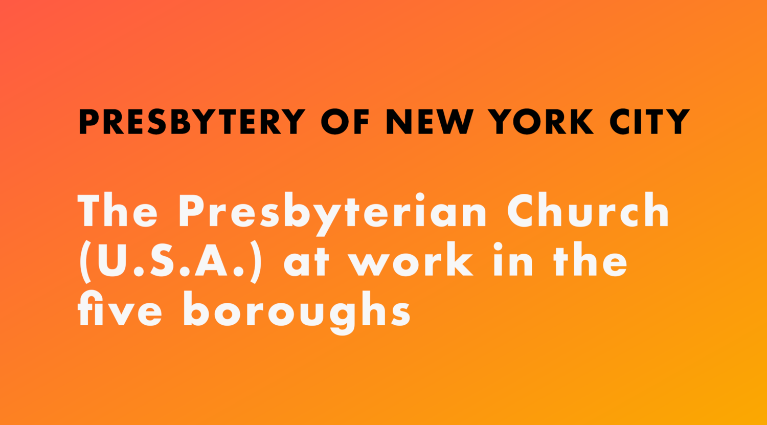 Congregations — Presbytery of New York City