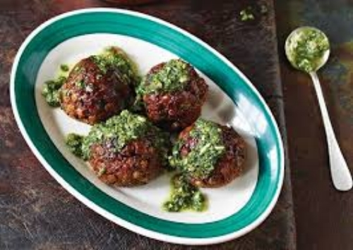 A very healthy and delicious option for meatless meatballs. My sister made these and said they were very tasty. A bit more labor and time required but they came out well. A good way to sneak veggie in for the little ones. I think the verdict was save for a weekend meal when you have more time, while they are good not worth the work during the week.    Prep Time:  Long, at least 30mins, you have to cook lentils, you could always cook the day before to cut down on time here.    Ease of Ingredients:  15+ ingredients, you'll need a store run and multi-steps here   Nutritional Eval:  High! Very healthy, loaded with veggies and legumes. Lentils leave you feeling full and satisfied, and are packed with fiber, protein, folate and more.