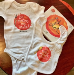 Baby Bundle includes bib, onesie and autographed copy of The Dot.