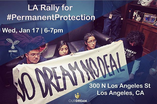 California family! Are you ready to take to the streets and demand #PermanentProtection? Join us as we say. No more temporary solutions. WE NEED #PermanentProtection. — #CleanDreamAct #daca #savetps