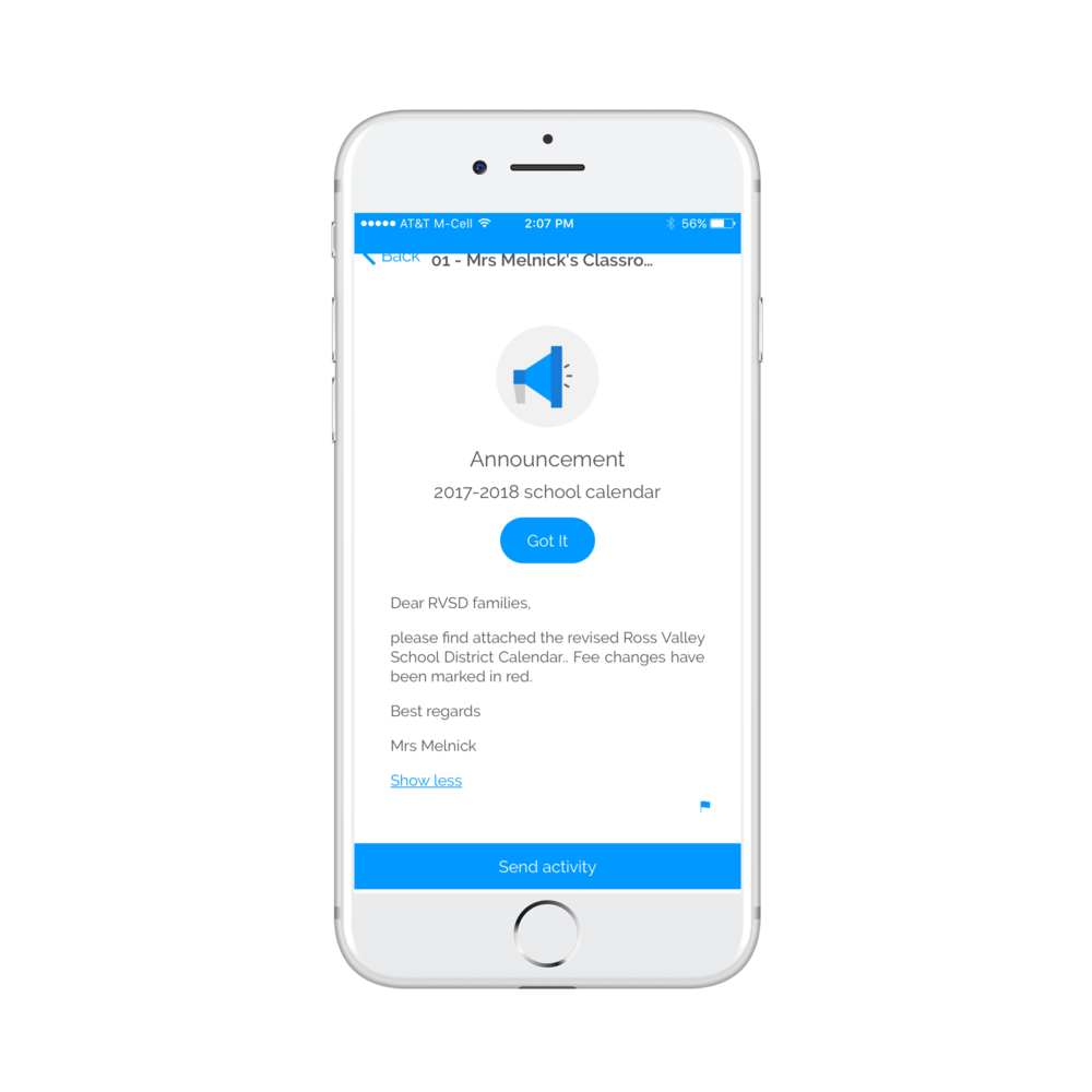 Allowing Educators to quickly send important district-/school-wide notifications to parents. - BluPods makes it easy to effectively communicate with parents .