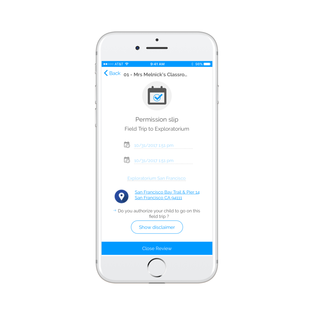 Letting Educators easily create & coordinate group activities - BluPods lets parents respond quickly to field trip requests, emergency announcements, forms, signatures and more.