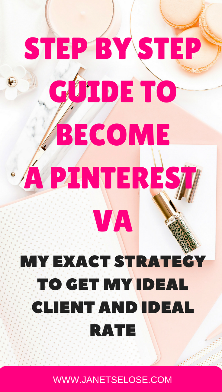 Want to become a Pinterest VA? Let me share with you the exact steps I did to get my ideal client and ideal rate by being a Pinterest VA. I started getting online gigs last November 2016 but I was a General Virtual Assistant. My rate ranged from $6-$15/hour depending on the tasks. Until I realized that I deserved so much better. After just a week of applying my new strategic plan, I landed my first Pinterest client without questioning my rate. Yay!