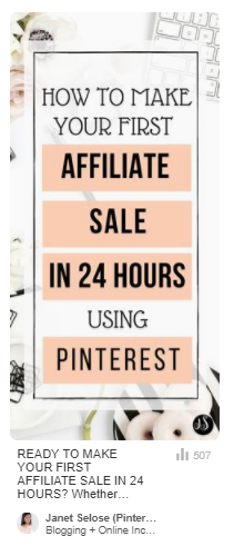 How I Made My First Affiliate Sale On Pinterest in 24 Hours - Affiliate MArketing Tips