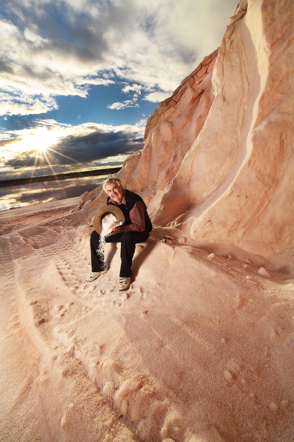 CHP_Export_143582296_Duncan Thomas from Murray River salt at a salt heap PictureRob Leeson..jpg