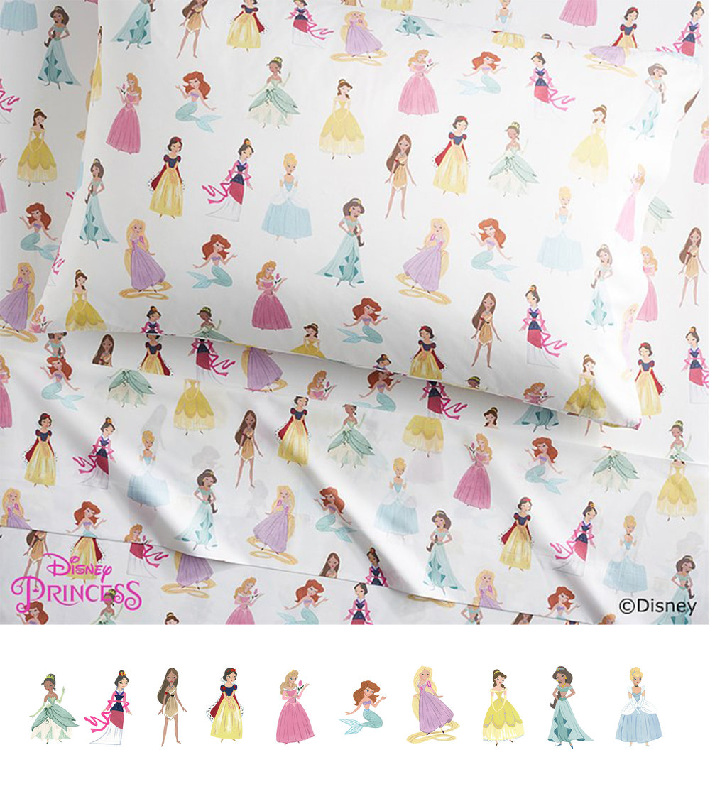 Vintage Princess Sheeting for Pottery Barn Kids