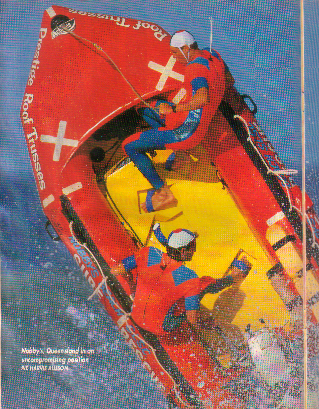 Nobby's Beach SLSC IRB Team 90s