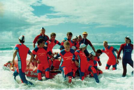 Nobby's Beach SLSC IRB Team - 1990