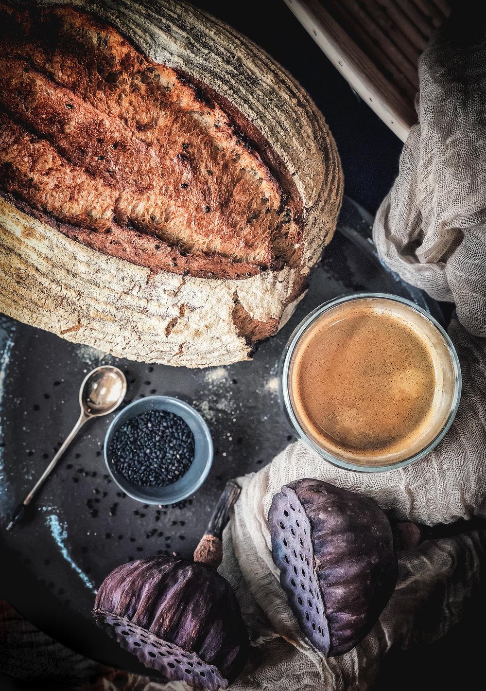 Black sesame khorasan bread