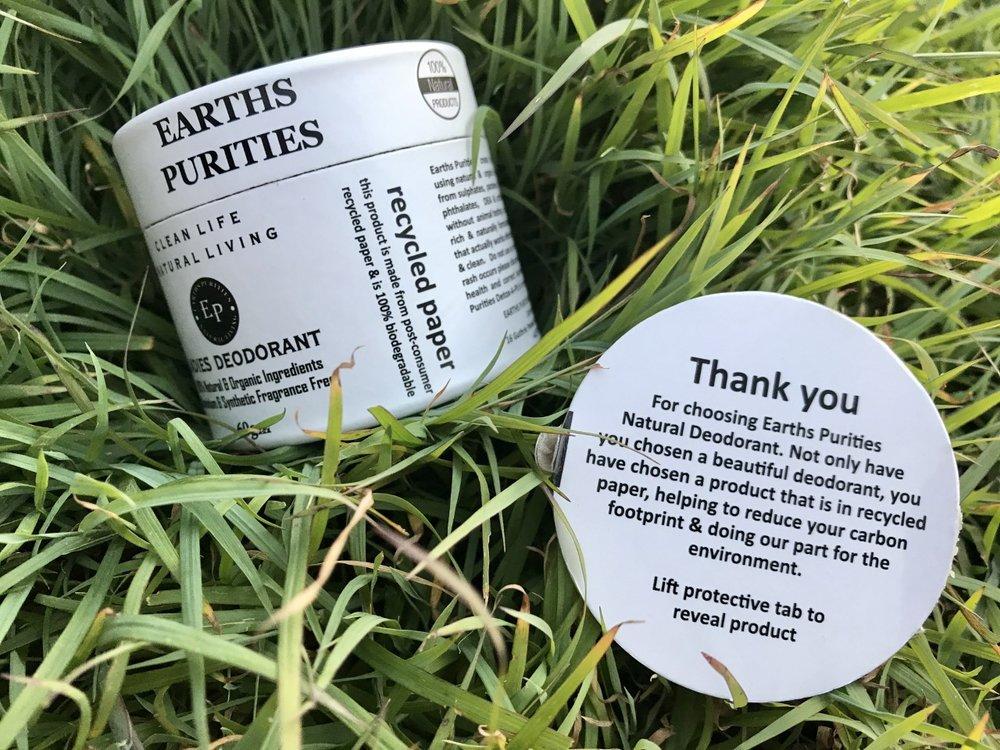 Earths Purities Deodorant