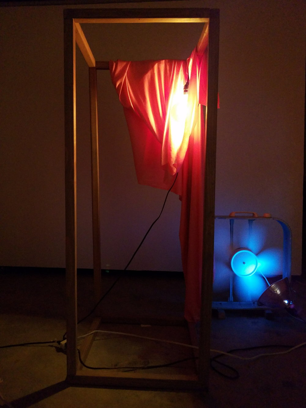 """OCCUPATIONS (tests) - by Maggie Heath.Physical installation. June 2017 - October 2017""""But woman's allegedly definitive tendency to put the inside on the outside could provoke quite another reaction.""""The Gender of Sound, Anne Carson""""Colors appear connected predominantly in space. Therefor, as constellations they can be seen in any direction and at any speed. And as they remain, we can return to them repeatedly and in many ways.""""Interaction of Color, Josef AlbersIn, Occupations, tests I am compiling methods and remenants from various jobs and art exhibitions I have had in the past two years. Materials are left exposed. Process available. Simple discarded moments make up the sourcing of material. Tableaus put together, forced into simple structures. The colors considered—they are part of our vision. Color, how we grasp onto sight, allowed with variations of light allowed in.Maggie Heath is a Portland artist whose work rests in considering the space a body inhabits. Heath received her BFA from Portland State University in 2015 and has been awarded an honorable mention in ISC's Outstanding Student Achievement in Contemporary Sculpture Award Program, the Kamelia Massih Outstanding Student Prize in the Arts, and received a 2015 Precipice Fund from Portland Institute for Contemporary Art. Her work has been seen at various galleries throughout Portland including: Surplus Space, Timeshare Gallery, MK Gallery, AB Lobby Gallery, galleryHomeland, Autzen Gallery, 511 Commons, Blackfish Gallery, Short Space, and was part of a group exhibition at Virginia Commonwealth University. Heath is co-founder of Bronco Gallery, an alternative gallery space that is based out of a 1991 Ford Bronco."""