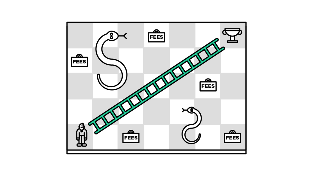 think direct snakes and ladders