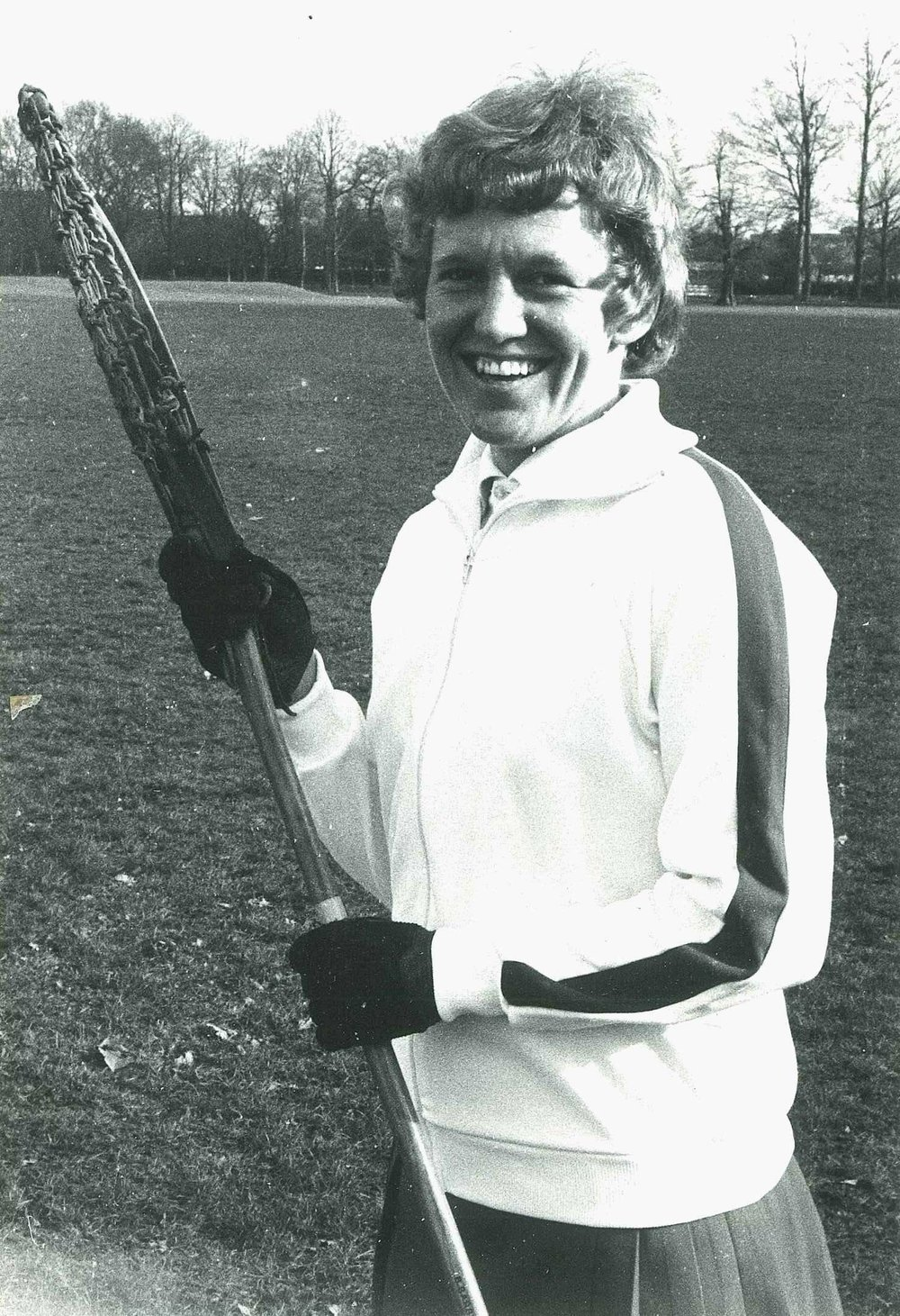 Celia before England played Scotland in 1977