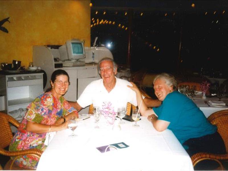 Celia (right) with Professor Kari Fasting and Dr Bob O'Connor