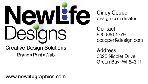 C cooper design business card back with call to action reheart Gallery