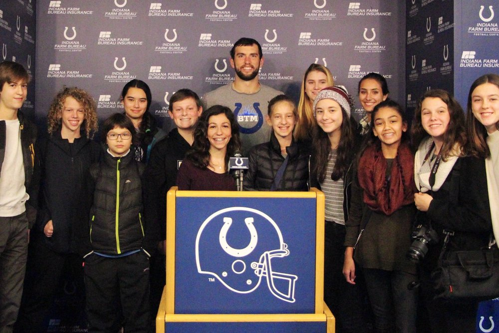 Student editors meet with Andrew Luck '08 -