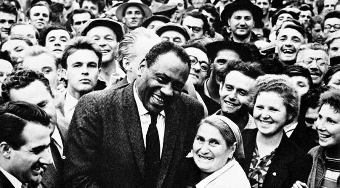 Paul Robeson in Russia. In the United States, Robeson fought racism, lynching and McCarthyism.