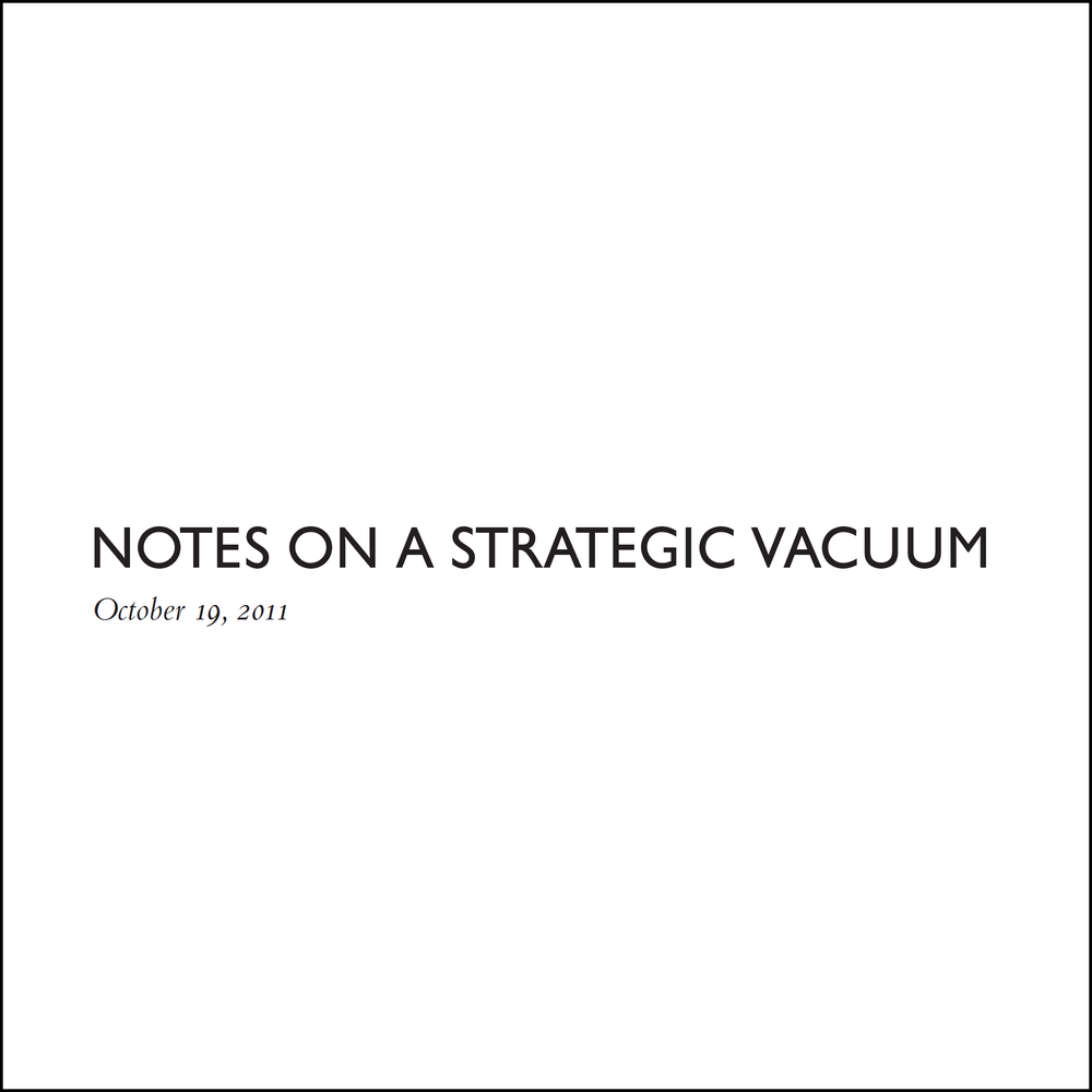 notes on a strategic vacuum | journal article