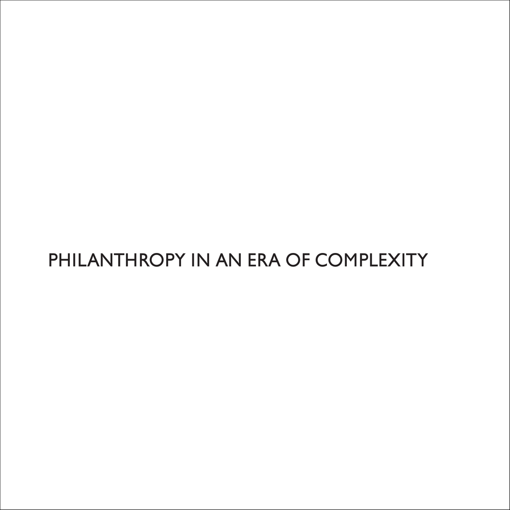 philanthropy in an era of complexity | Article