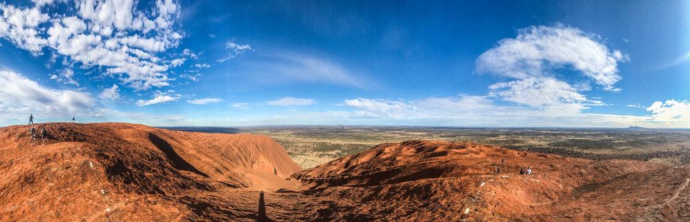 The top of Uluru.