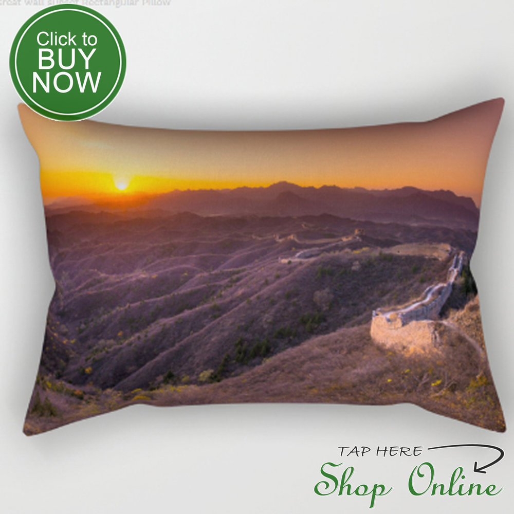 Great wall sunset pillow.JPG