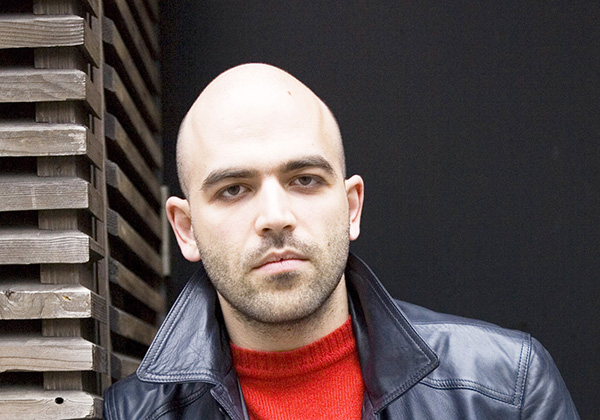 Photograph of Robert Saviano © Leonardo Cendamo Blackarchives