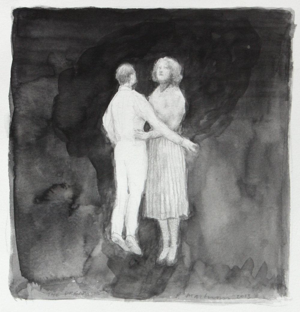 Peter Martensen, The Dream, 2013, acquarello e matita su carta, 17,5 x 16,5 cm.jpg