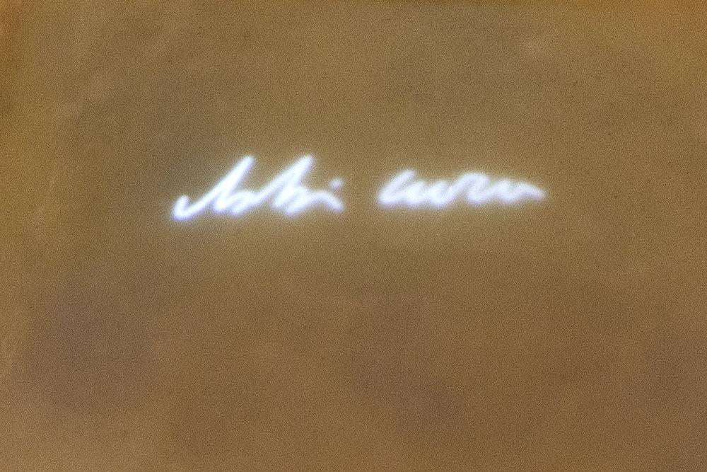 Gregorio Botta, Abbi cura di me, 2017, ferro, cera, videoproiezioni, 100x25x25 cm.jpg