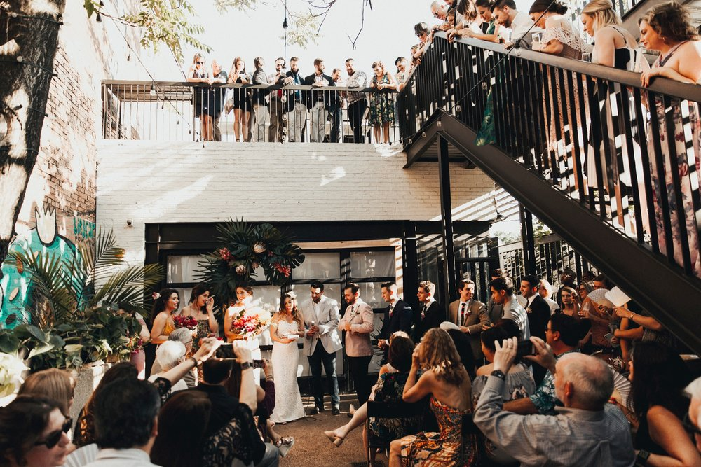 wedding ceremony at Maketto
