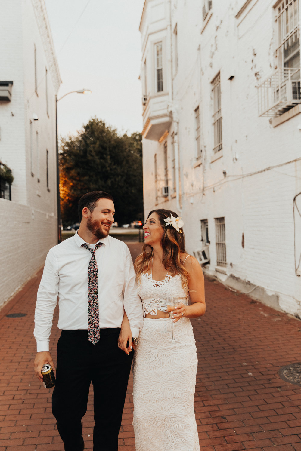 bride and groom portraits in Washington, DC