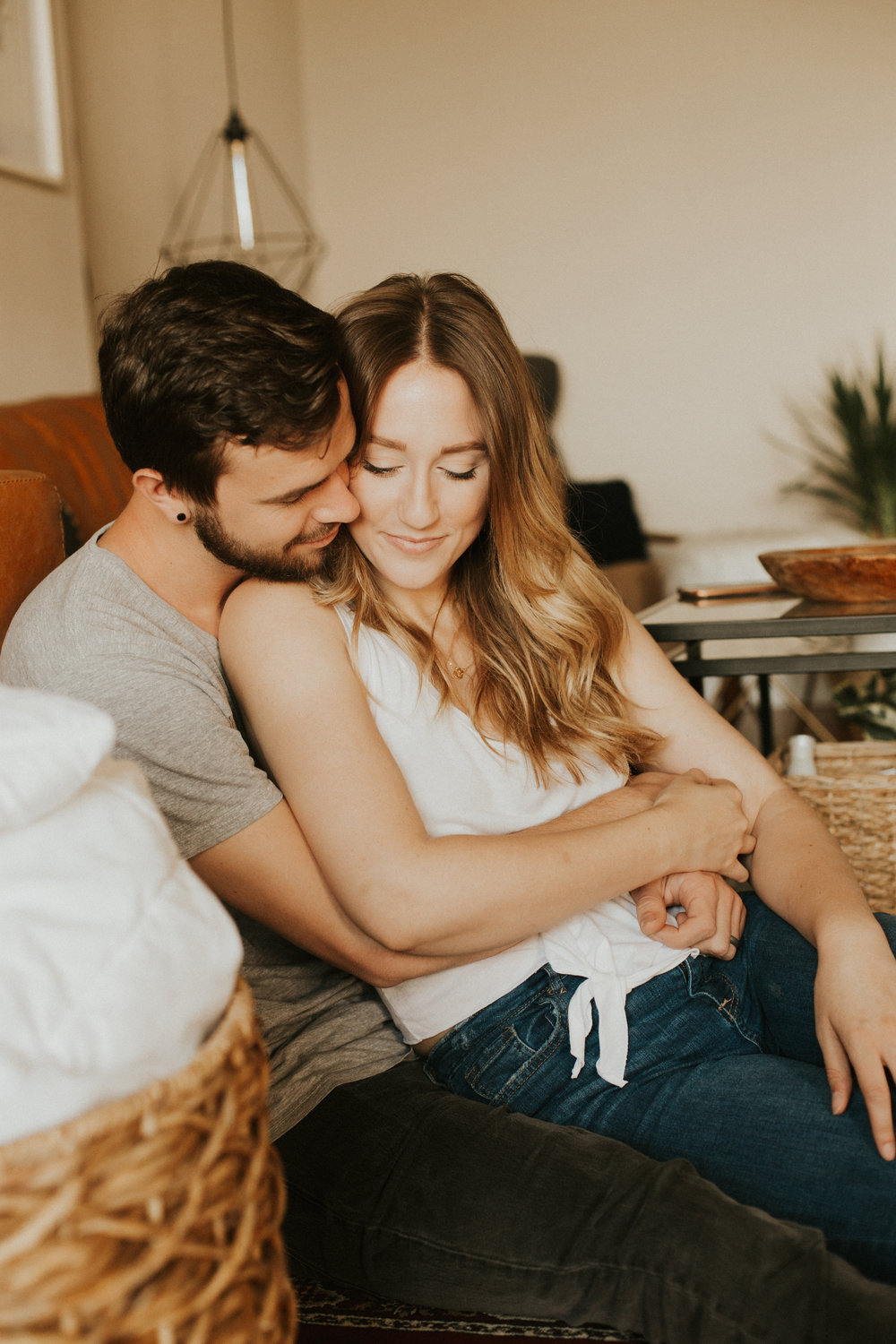 Kyle & Macey   Cozy in home session