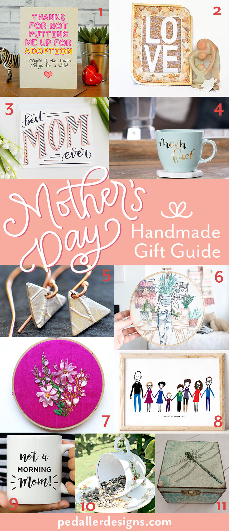 Stumped on what to get mom this Mother's Day? Let her know just how much you appreciate her with a thoughtful, handmade gift form this curated collection of gifts she is sure to love.