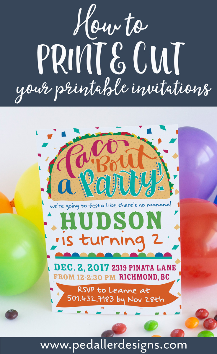 Printing and cutting your invitations yourself is a super easy and fast way to get your invitations out for your next party asap. Figure out how to without the hassle with this simple step by step tutorial >>