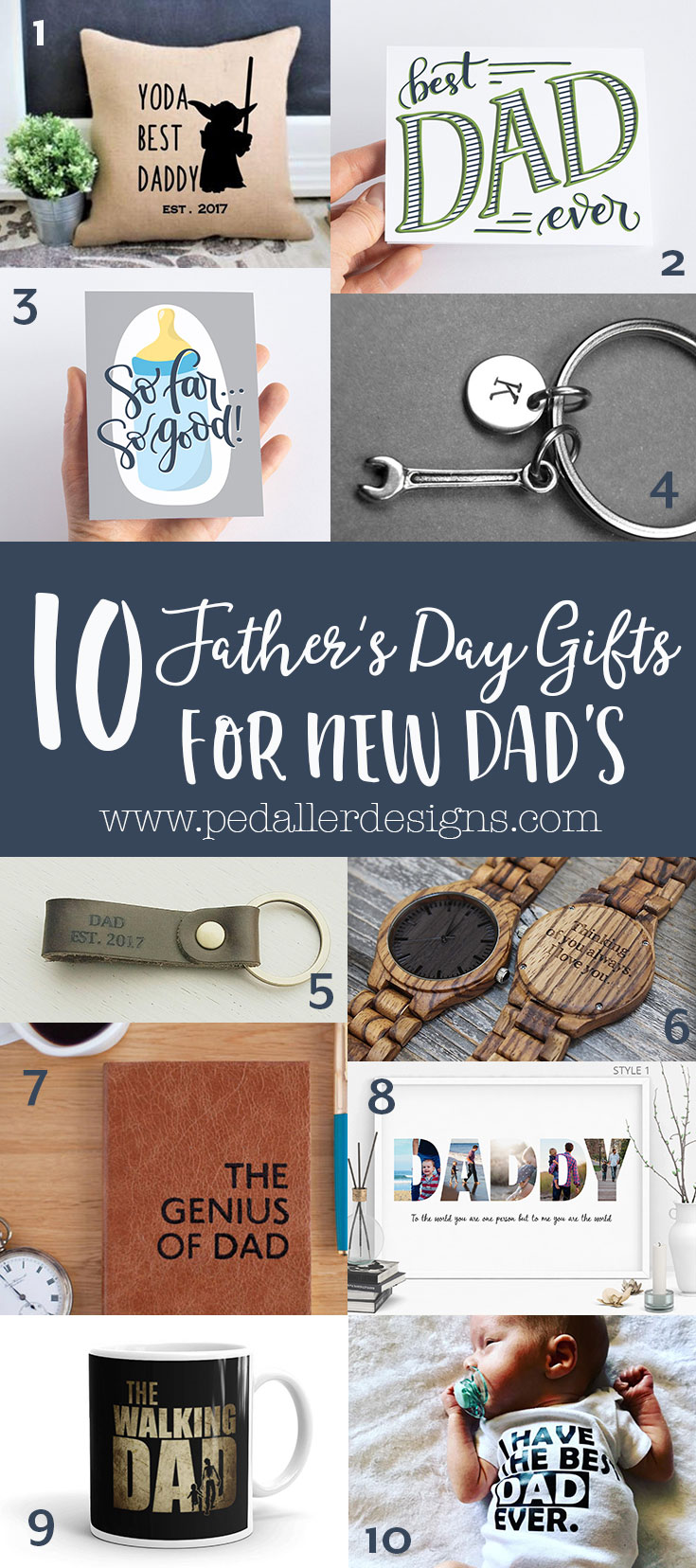 Need some Father's Day ideas for a new dad in your life? Look no further than my newest gift ideas for new dad's, click to get my top 10 favourites from some amazing handmade shops!