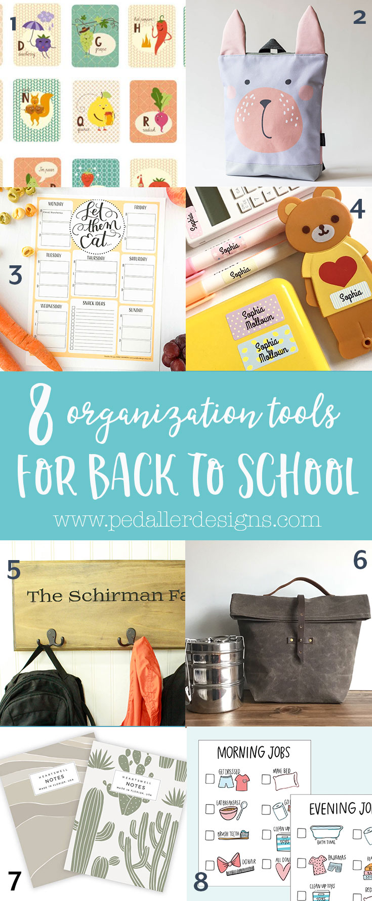 Get your school year of to an organized start with some of my favourite handmade products and ideas.