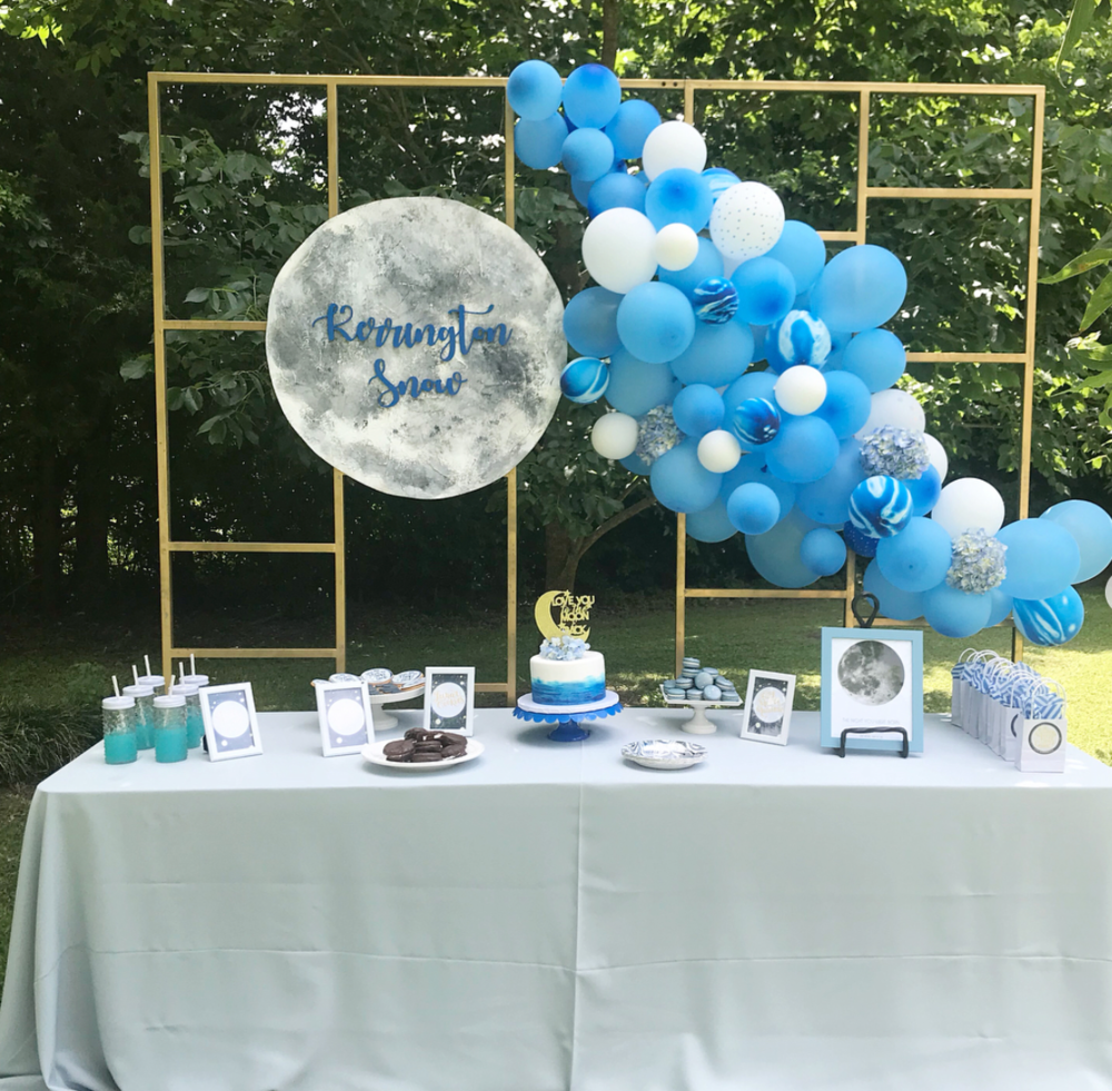 Moon Birthday Party Dessert Table Ideas
