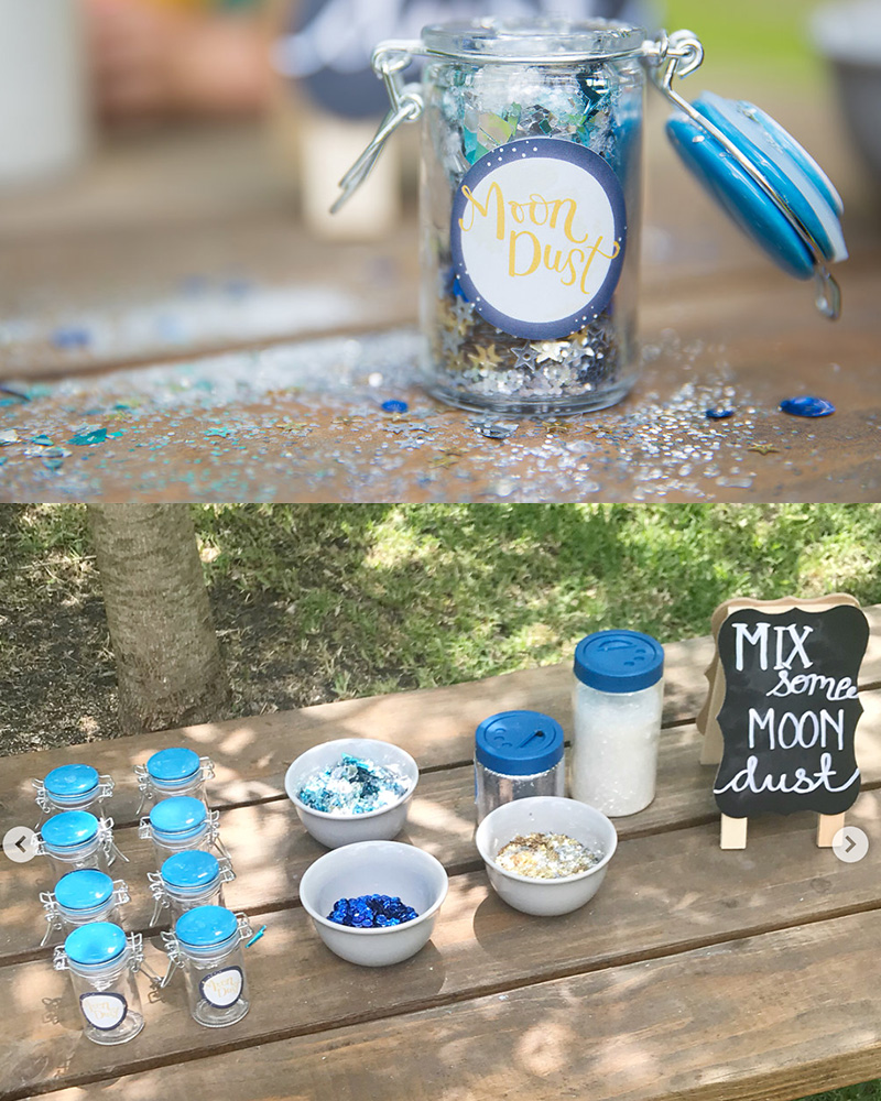 Moon Dust Party Craft activity for kids and preschoolers