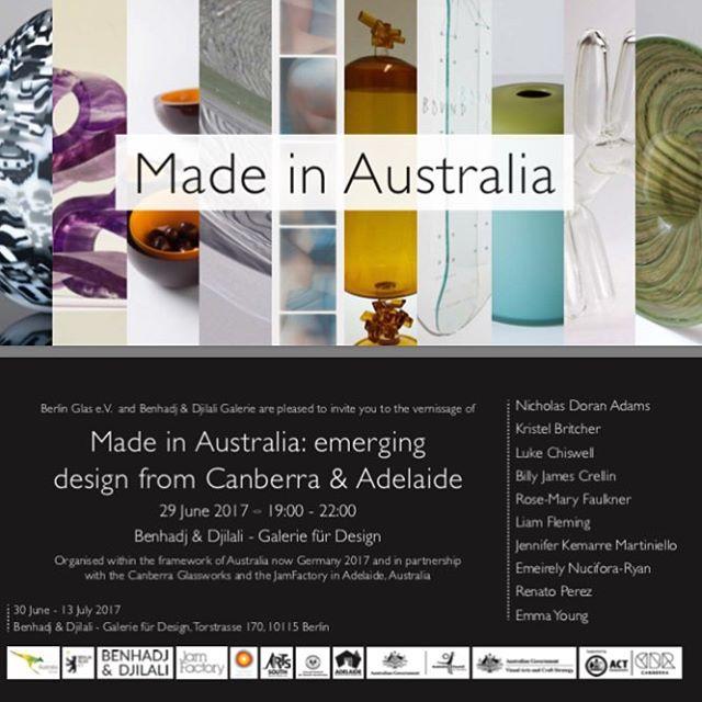 Opening next week in Berlin! #madeinaustralia #berlinglasev #australianow2017 #australischebotschaft #australianembassyberlin #australiaingermany