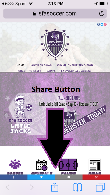 Home page with share snapshot.PNG