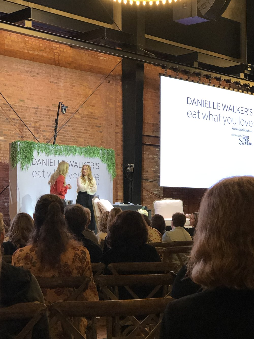 Danielle Walker and Angie Smith — how great is this venue though?!