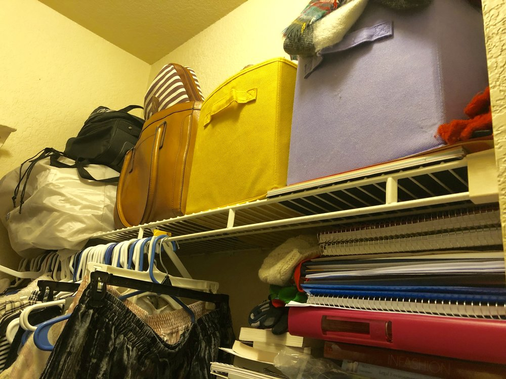 This is where I put stuff that has no home. Oh, and my old notebooks from school?