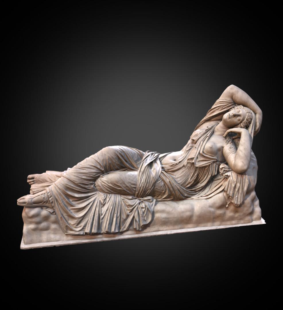 Sleeping Ariadne - Inv. #: XXX / Man. #: n/a / Material:Marble