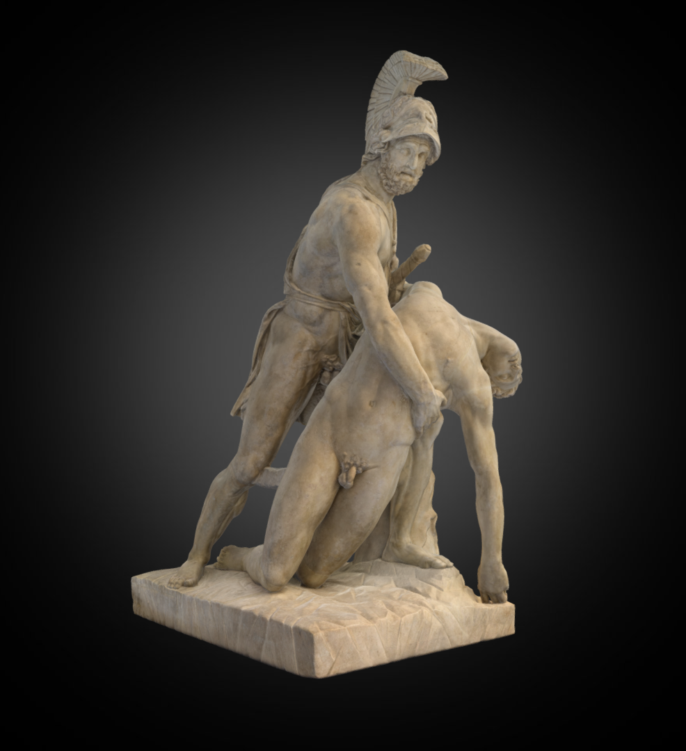 Menelaus and Patroclus - Inv. #: 601 / Man. #: n/a /Material: Marble