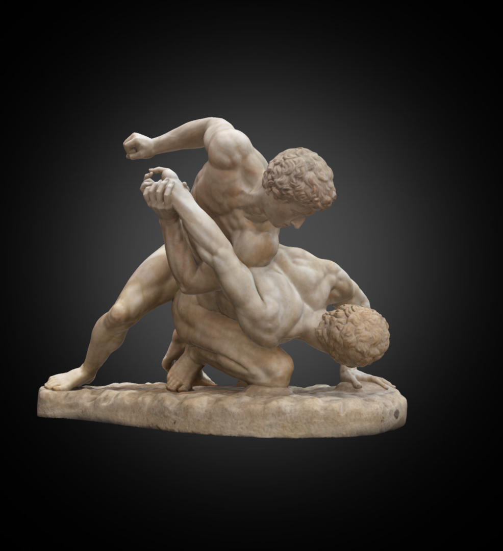 Wrestlers - Inv. #: 953 / Man. #: 216 / Material: Marble