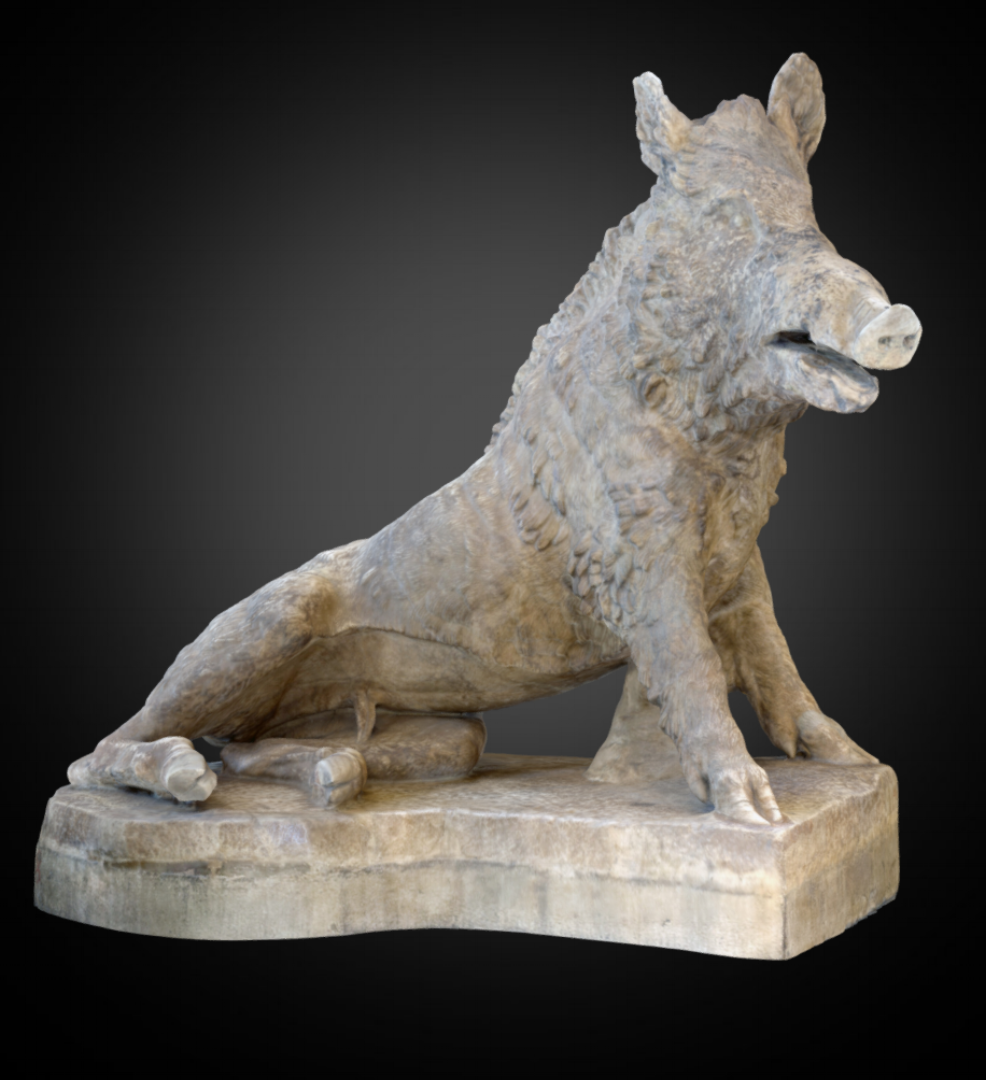 Wild Boar - Inv. #: 63 / Man. #: 50 / Material: Marble